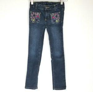 Girls Embellished Skinny Jeans